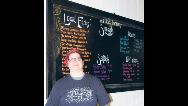 Kelly Littlefield, chef at Milk & Honey in Harlan, will participate in the Iowa Taste of Elegance competition in Des Moines on Monday.
