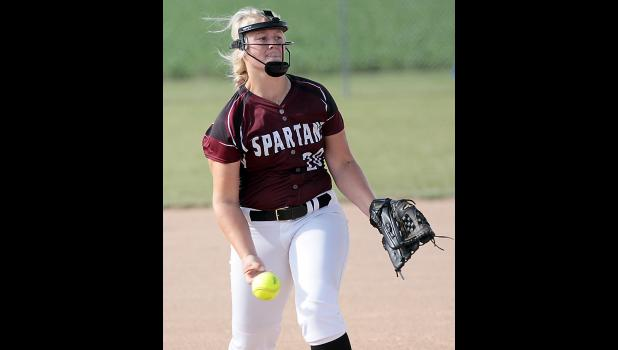 Spartan senior Maggie Rasmussen issued no walks while striking out four vs. CAM.