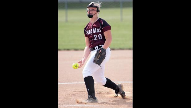 Exira-EHK senior Maggie Rasmussen struck out eight batters and walked none in Friday's 10-2 win over Charter Oak-Ute.