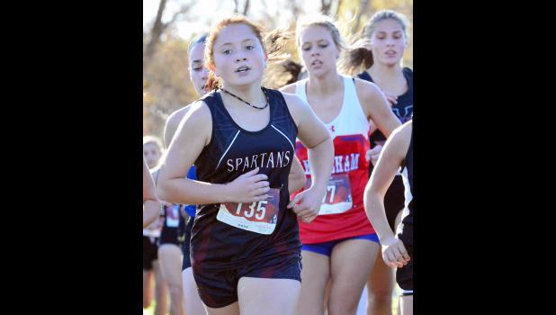 Exira-EHK's McKenzie Yoshida (135) finished 61st for the Spartan girls.