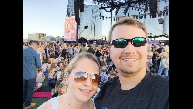 Jacob Andersen and his fiancee, Kimberly, at the 2016 Route 91 Harvest Festival concert.  This year's event ended in tragedy by a gunman who killed 58 and wounded approximately 500 others.