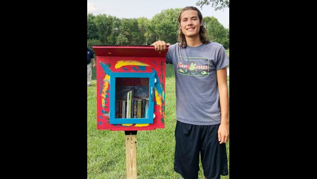 Congratulations to Niall Mahoney for completing his Eagle Scout project during the year -- a little libraries project.
