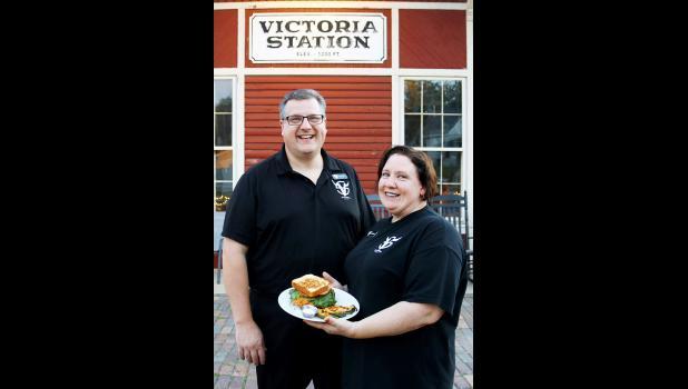 Richard and Angela Buman, owners, Victoria Station.  (Photo courtesy Iowa Pork Producers Association)