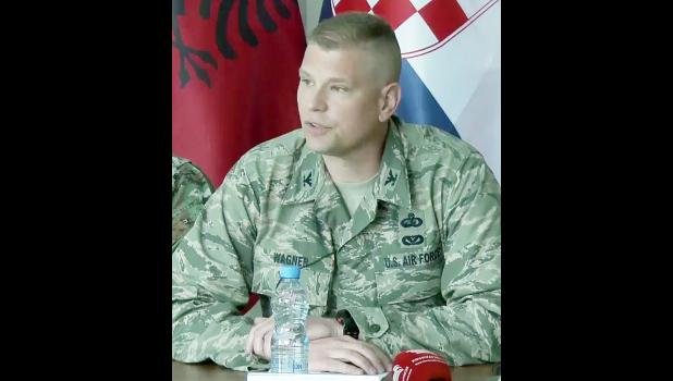Col. Justin Wagner was the Officer in Charge during a two-week training exercise in Kosovo.