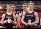 The first-place Cyclone boys 4x400 relay included, left-right: Michael Erlemeier, Jon Owens, Jake McLaughlin and Nick Foss. (Photos contributed)
