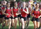 A pack of Harlan Community girls start Saturday's Kuemper Invite, which the Cyclones won for their third straight team title. HCHS runners, left-right, include: Liv Freund, Abby Alberti, Lucy Borkowski, Greichaly Kaster, Raegen Wicks, Kaia Bieker and Brecken Van Baale.