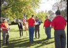 American Legion/VFW retire colors