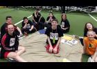 Members of the Harlan Community Schools Delegation relax during some free time at the 2019 Special Olympics Summer Games on May 24. Front row, L-R: Chloe Hays, Mark Kenkel, Jordan Folk. Back row, L-R: Billy Joe Harvey, Tristan Harvey, Mrs. Wyatt, Camryn Casebeer, Jennifer Crosley, Katland Powley. (Photos contributed)