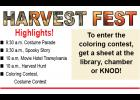 Harvest Fest will be Saturday, Oct. 24