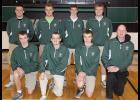 Front row, L-R: Tyler Henkelman, Jon Niles, Jerad Henkelman, Coach Keith Wagner. Back row, L-R: Austin Ahrenholtz, Tyler Saunders, Trey Boyle, Sam Gross.