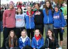 The AHSTW girls cross country team placed sixth out of 16 teams in Class 1A at Saturday's state meet. Front row, L-R: Chloe Falkena, Jade Draman, Claire Denning, Julia Kock. Back row, L-R: Assistant Coach Jackson Renberg, Bella Canada (manager), Holly Hoepner, Jordan Blotzer, Kailey Jones, Head Coach Jenny Hamilton. (Photos by Mike Oeffner)