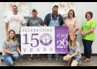 PLANNING COMMITTEE -- Shelby 150th Committee members include front: Michelle Mantell and Angie Grote.  Standing: Mike Mantell, Jarod Boeck, Andy Newland, Mallory Nelson and Karen Zimmerman. Not pictured - Jim Boeck and Pat Honeywell.