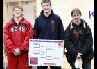 CYCLONE STATE QUALIFIERS -- Left-right, HCHS junior Jesse Schwery, senior Carter Bendorf and senior Ethan Lemon all qualified for state by placing in the top two of Saturday's Class 2A district meet in Atlantic.