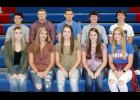 AHSTW Homecoming candidates include front L to R -- Sidni Osbahr, Kyley Nelsen, Kate Wise, Madison Simonsen and Isabella Zortman. Back L to R --  Elliot Young, Gabe Pauley, CJ Best, Kyle Branan and Ben Ehlers.