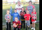 Pictured, kneeling in front, Hayden Gross.  Middle L to R -- Cooper Lansman, Jett Sondag, Emma Zaiger, Drake Nelson and Hailey Strom.  Back L to R -- Jane Klein, school nurse, and Kathy Frederick, office manager/secretary.