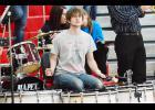 HCHS Senior Alex Dotzler plays the four bass drums