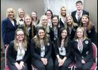 Qualifying for nationals from the state HOSA conference include front L to R -- Dakota Schaben, Periann Larsen, Haley Swisher and Baylee Hoegh.  Second row L to R -- Addison Ferry, Megan Andersen, Kelsey Schaben, Lauren Blum and Jaden Anastasi.  Back L to R -- Instructor Nancy Osborn, Kristen Ferry, Hannah Denning, Lexus Brown, Bailey Heilesen and James Erlbacher.  Missing are Allison Bruck, Molly Gubbels, Nicole Goshorn, and Alana Schmitz.