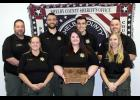 The Shelby County Jail was recently recognized as one of the Best of the Best from the Iowa Department of Corrections.  Those employees sharing in receiving the award are: front L to R -- Officer Nancy Pigsley, Officer Mikayla Blum and Officer Jade Daeges. Back L to R --  Jail Administrator Kyle Lindberg, Officer Andrew Bierl, Officer Walker Wilson and Officer Cody Hansen.